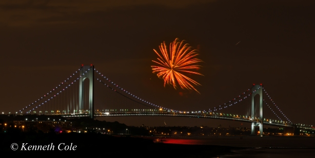 Fireworks over Verrazano Bridge best ever b-0095